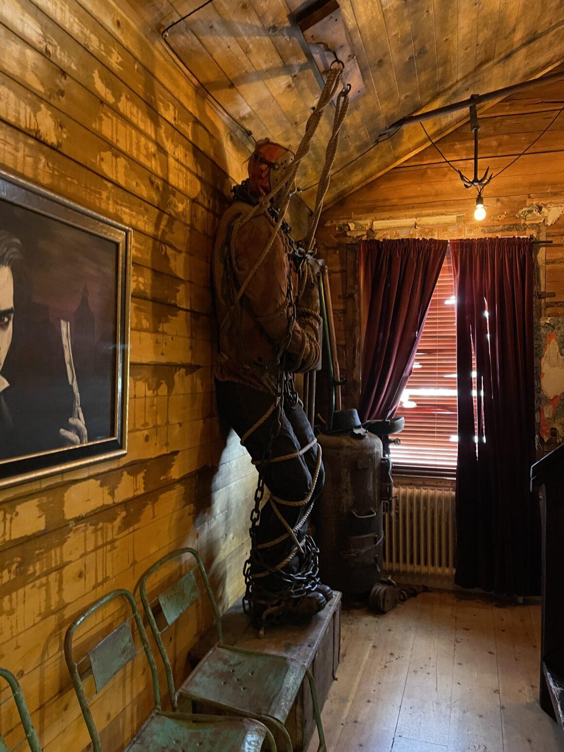 Ett av de läskiga rummen på Café Cineast