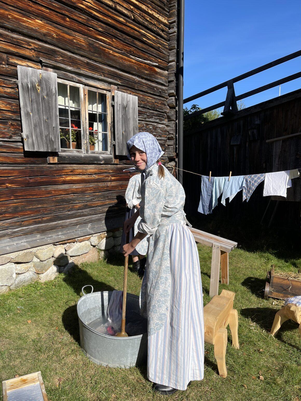 Wilma Nyman på Vemdalens hembygdsgård
